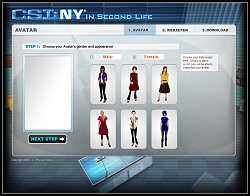CSI:NY in Second Life - Avatar Creation